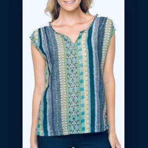 Beautiful PrAna Illiana Top Green Silk XS
